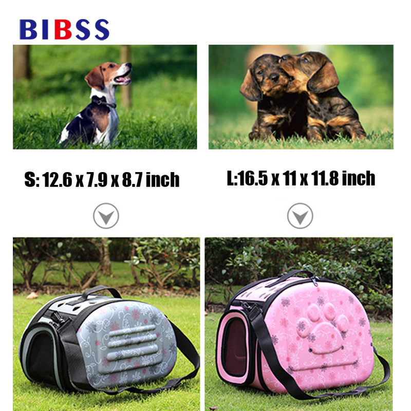S/LSize EVA Foldable Pet Carrying Bags For Small Dogs Singles Portable Breathable Outdoor Transport Pet Cat Puppy Dog Carriers