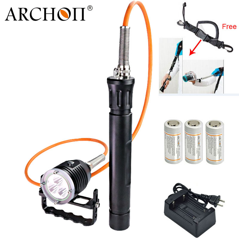 ARCHON DH30 II updat dh30 Diving Flashlight Canister Snorkeling Scuba Diving LED Light Professional Underwater Light
