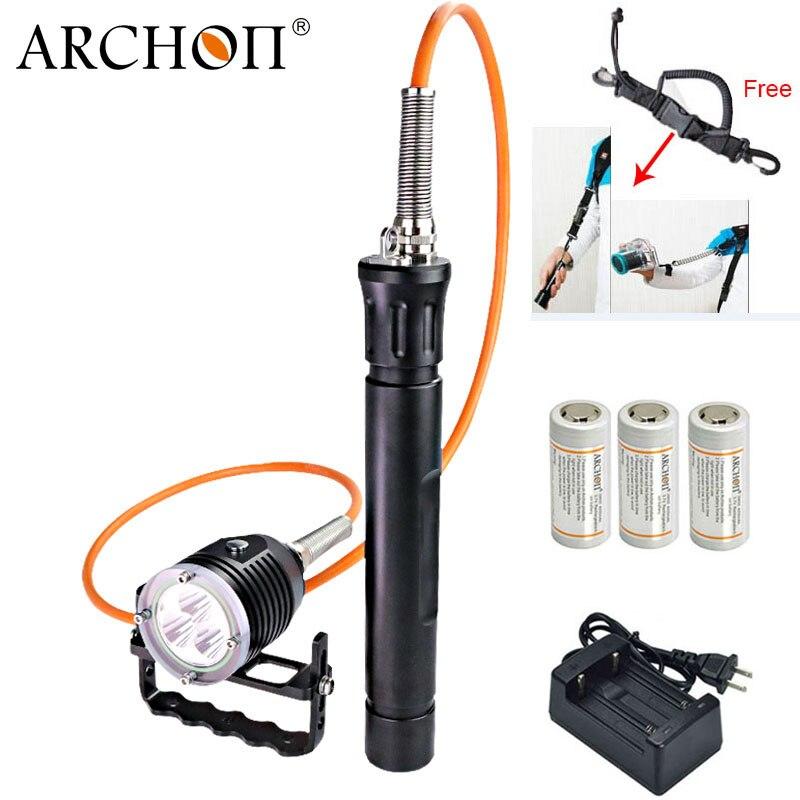 ARCHON DH30-II titula dh30 linterna de buceo contenedor snorkel buceo LED luz subacuática profesional de la luz de la linterna