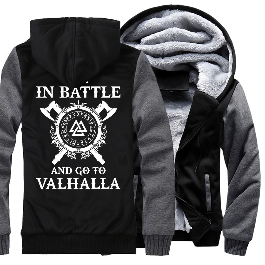 Männer casual wolle liner marke trainingsanzüge Winter verdicken mit kapuze sweatshirts Odin Viking hip-hop mode Vikings Odin jacken 2018