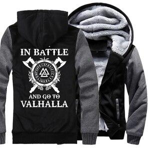 Image 1 - Sweat à capuche pour homme, survêtement épais, à la mode, style Viking, hip hop, décontracté, 2019