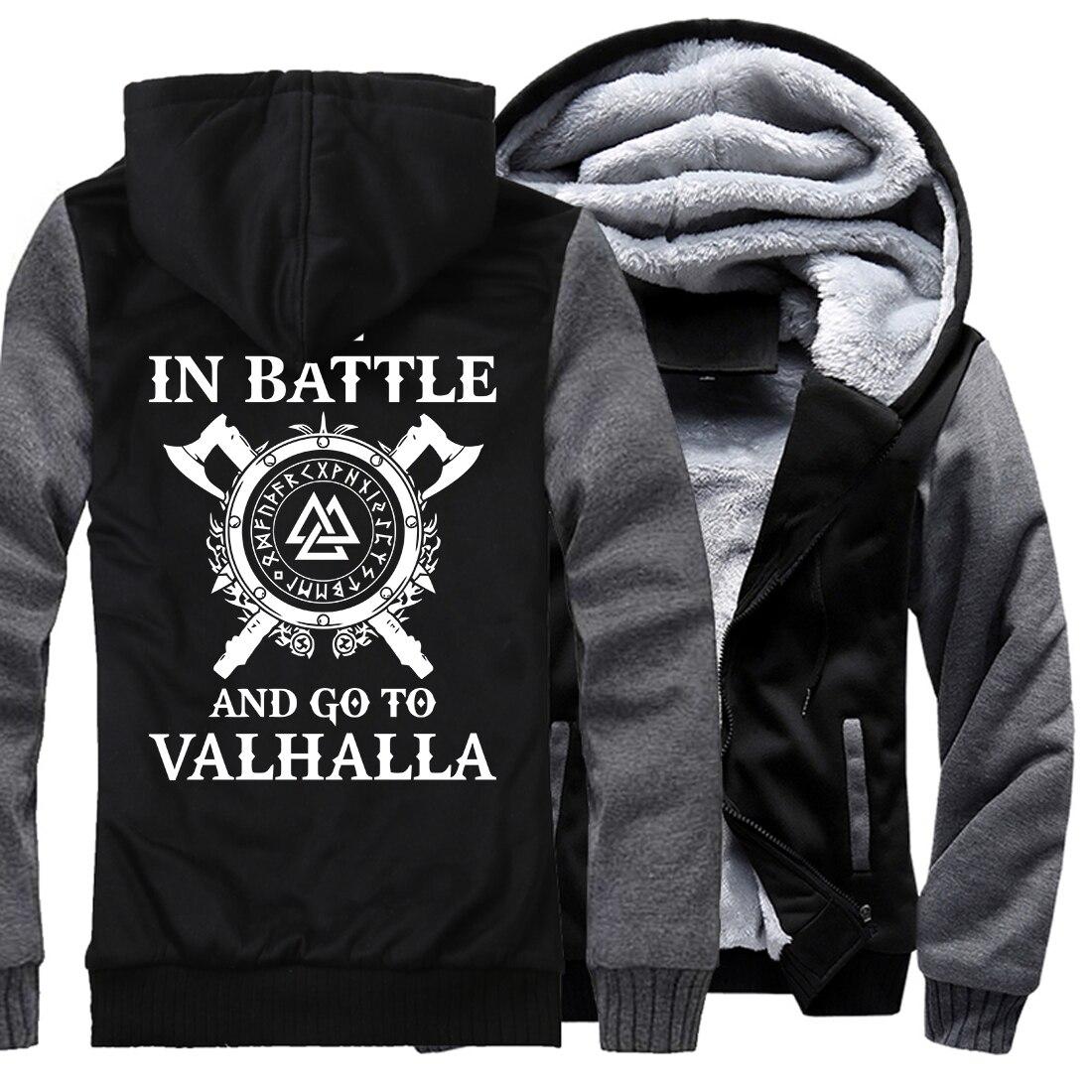 Uomo casual lana fodera tute sportive di marca Inverno addensare con cappuccio felpe Vikings Odin Odin Vichingo hip-hop moda giacche 2018