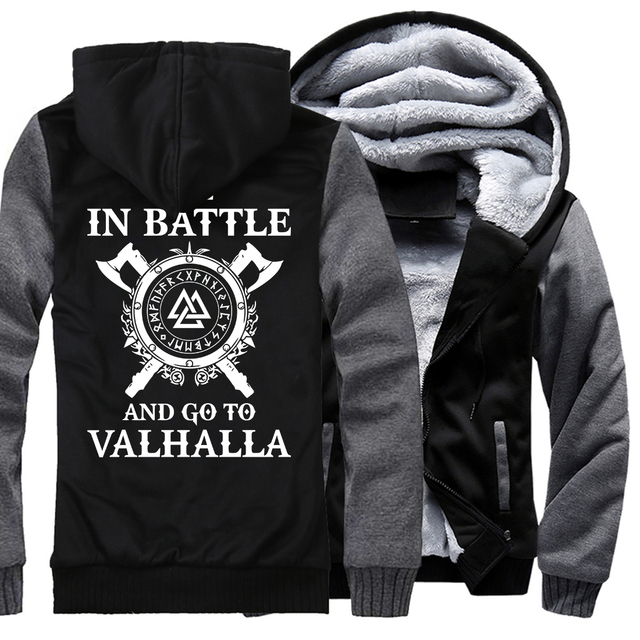 Winter thicken hooded sweatshirts Odin Viking Men casual wool liner brand tracksuits hip-hop fashion Vikings Odin jackets 2019