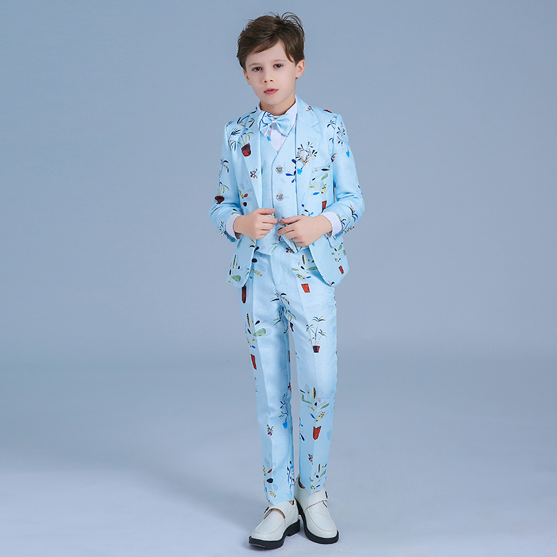 цена Children's suits, boys, small suits, children's flower girl dress, big children's host, stage piano costumes