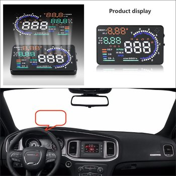 Car HUD Head Up Display For Dodge Charger / Challenger 2015 2016 Refkecting Windshield Screen Safe Driving Screen Projector