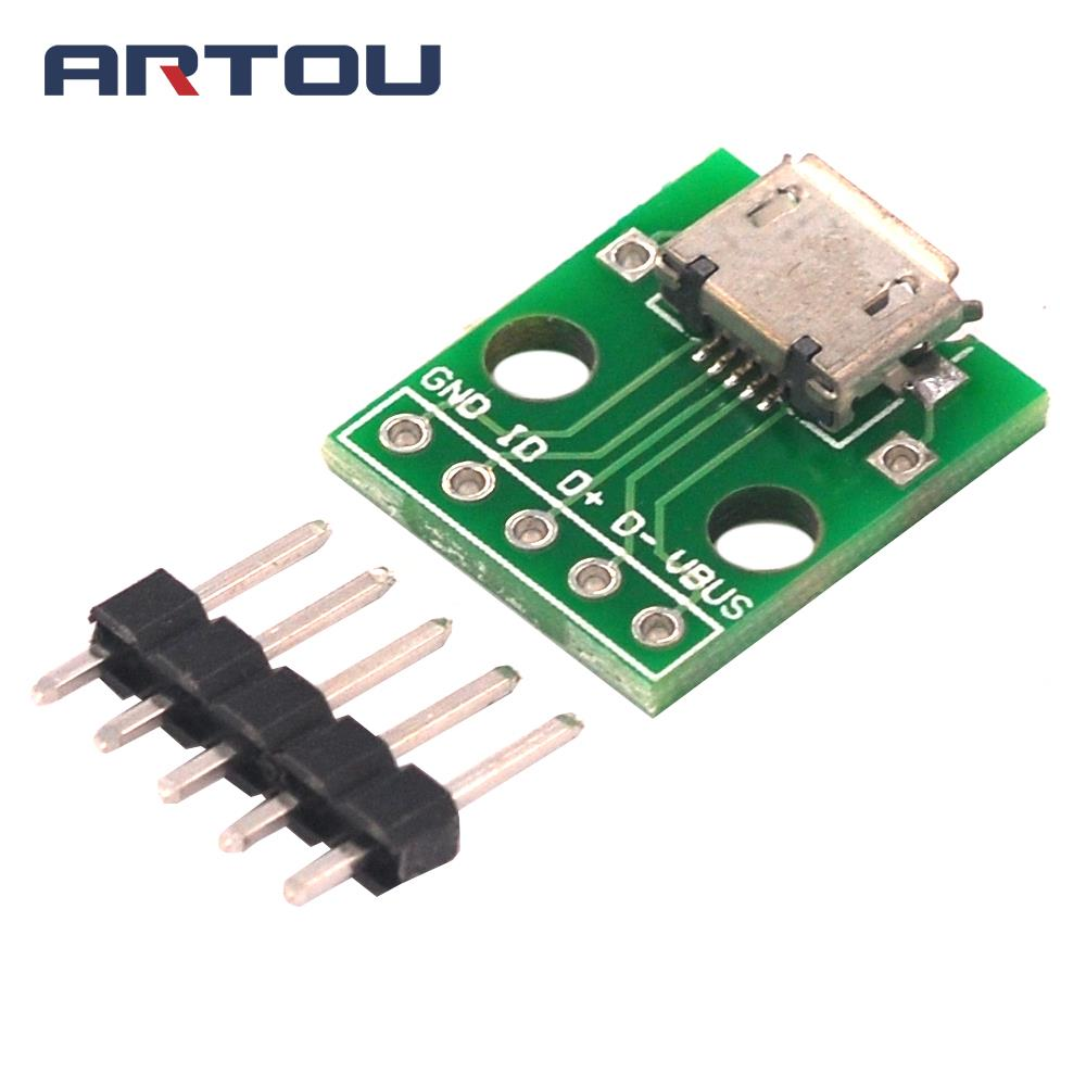 5PCS Breakout Power Supply Module Micro USB Interface Power Adapter Board USB 5V Breakout Module
