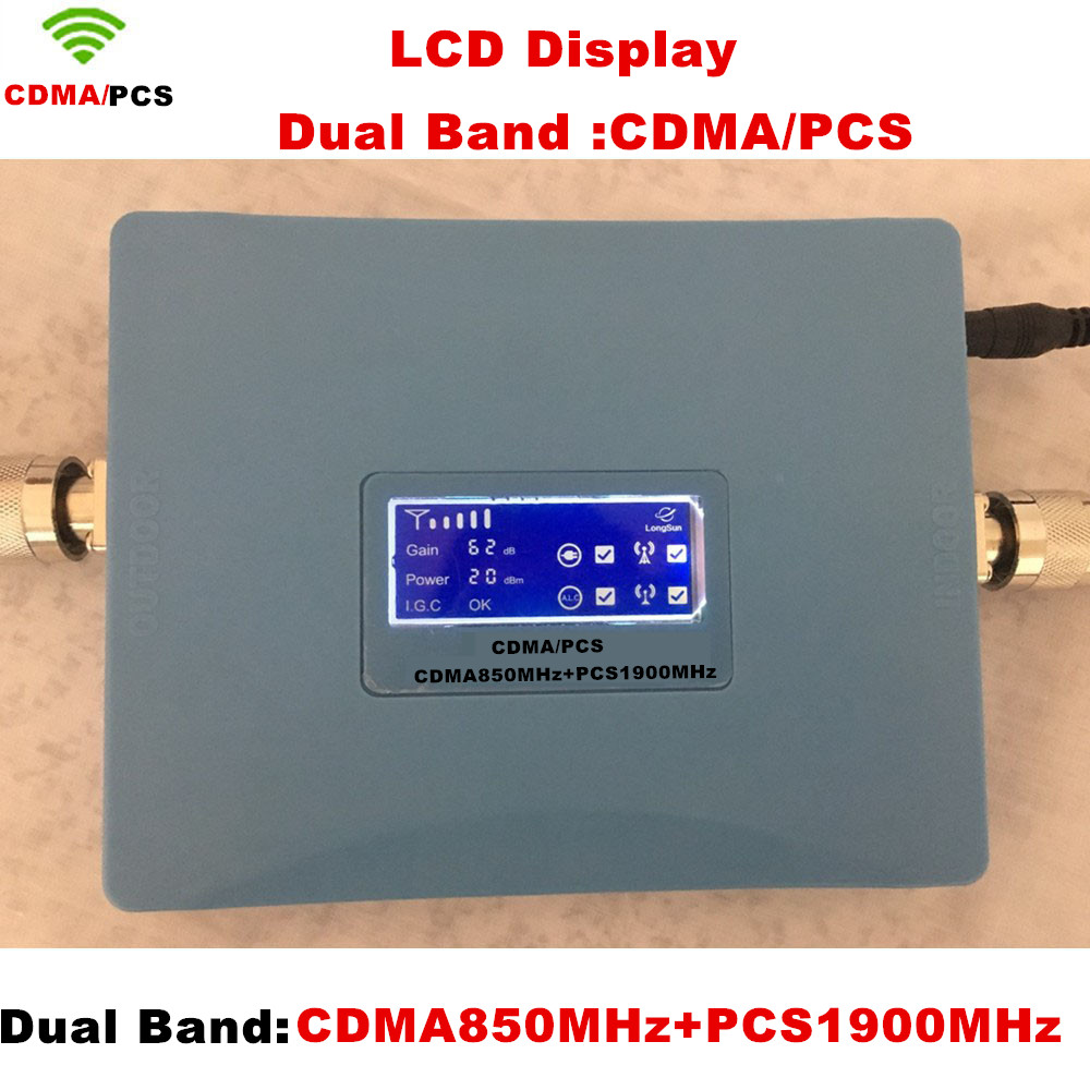 Hot Sale Dual Band CDMA 850Mhz + PCS 1900MHz Mobile Phone Signal Booster , PCS CDMA Signal Repeater , Signal Amplifier