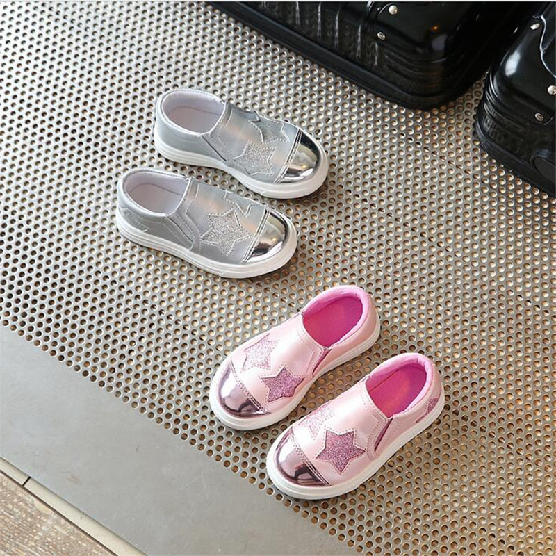 2017-new-fashion-childrens-sports-shoes-girls-lovely-stars-casual-shoes-flat-shoes-2
