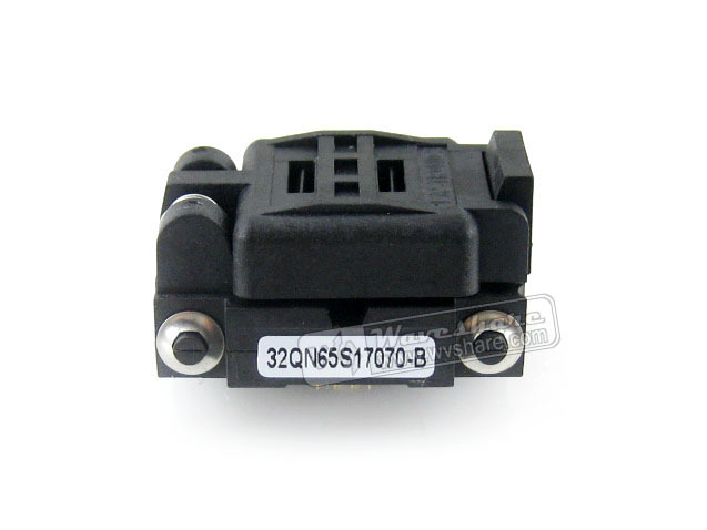 Modules Plastronics 32QN65S17070 IC Burn-in Test Socket Adapter 0.65mm Pitch QFN32 MLP32 MLF32 Package Free Shipping lqfp80 adapter 78k0 lf2 80gk 038x block test burn convert