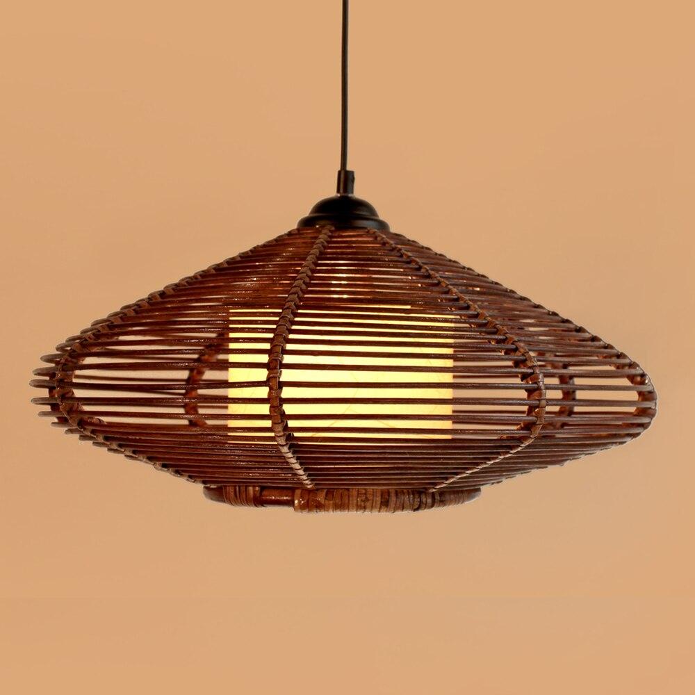 Neue Braun Handgemachte Moderne Rattan Anhnger Leuchte Lampe Studie Wohnzimmer Pendelleuchte Kostenloser VersandChina