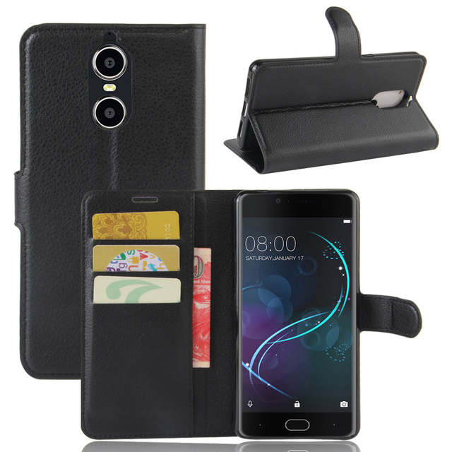 Doogee Shoot 1 Case Leather Flip Back Cover For 5.5 inches Doogee Shoot 1 With Stand And Wallet