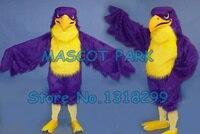 Фиолетовый сокол костюм талисмана высокое качество взрослый размер спорт eagle hawk птица тема аниме cosply костюмы карнавал необычные 2830