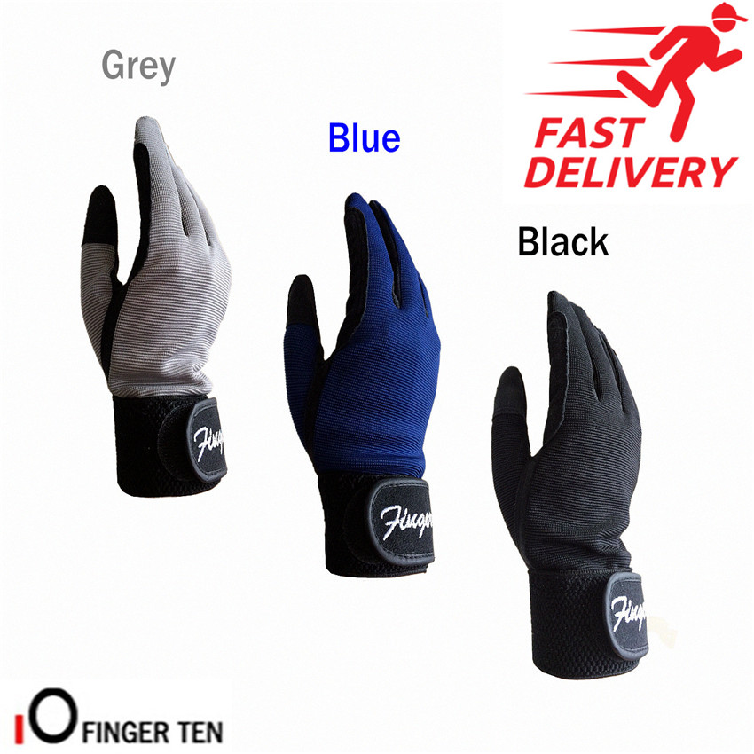 Full Finger Riding Gloves Kids Bike Cycling Pair Breathable Sports Riding Horse Gloves Unisex Size S M L XL Age 5-13 Years Old
