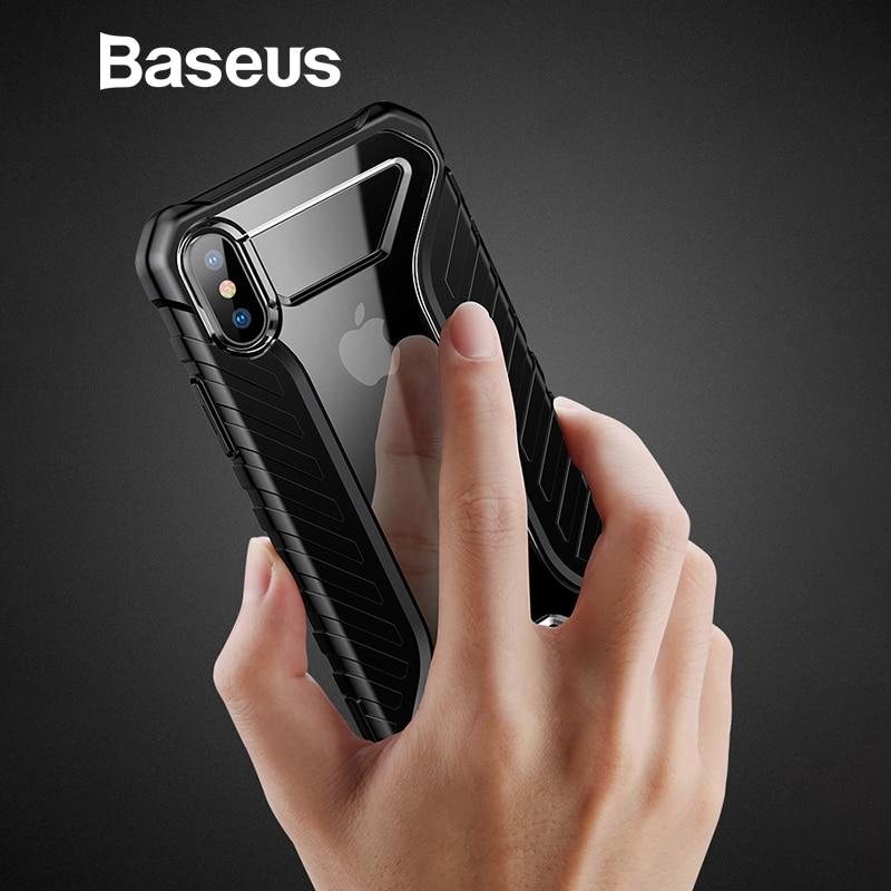 Baseus para iPhone Xs caso duradero patrón de neumático funda de silicona suave para iPhone Xs Max XR 2018 accesorios del teléfono cubierta