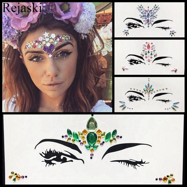Hot Sale Temporary Eye Gems Tattoo Stickers Girls Xmas Gifts Women Eyeliner  Decor Flash Face Colorful eb1208c130c1