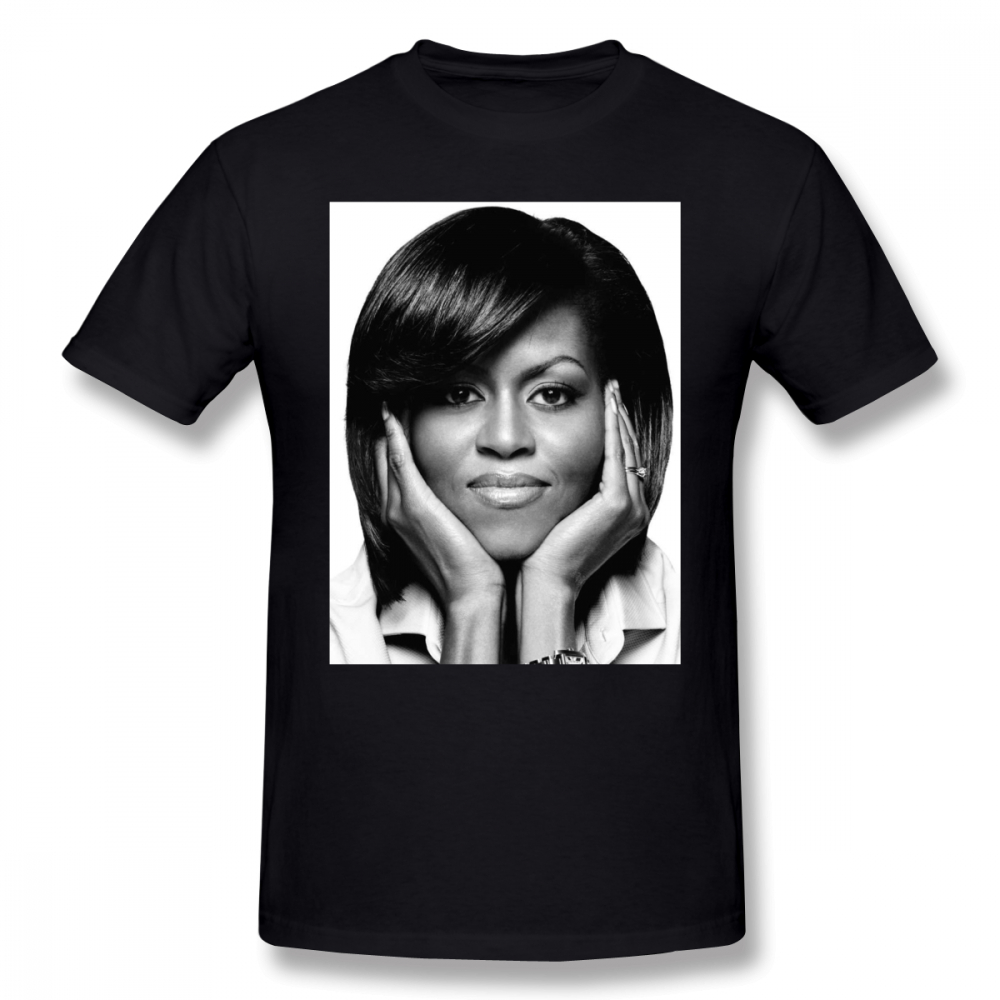 Obama   T     Shirt   Michelle   T  -  Shirt   XXX Streetwear Tee   Shirt   Fun Short Sleeve Male 100 Percent Cotton Print Tshirt