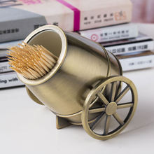 Metal Art Craft Vintage Home Decoration Cannon Toothpick Holder Box Creative Item Gift Novelty Product Desktop Ornaments(China)