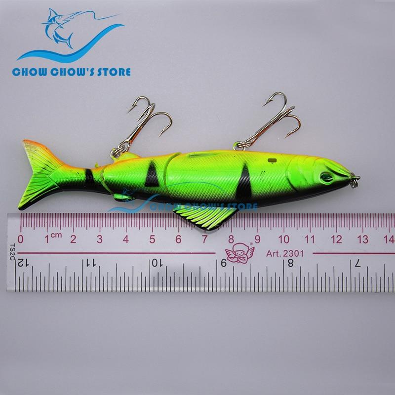 8PCS / Pack 12.5cm 18g 3 Seksione të Jashtme Swimbait 3D Eyes - Peshkimi - Foto 5