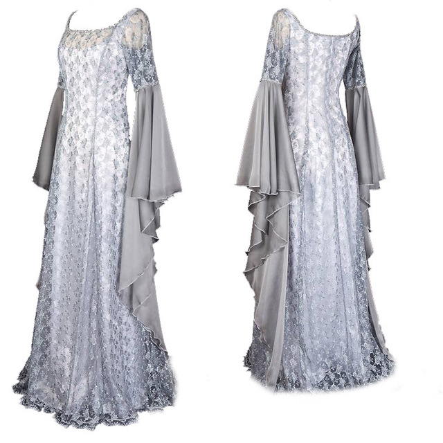 CIBO Fairy Cosplay Costume Pixie Hooded Gown OR Medieval Style ...