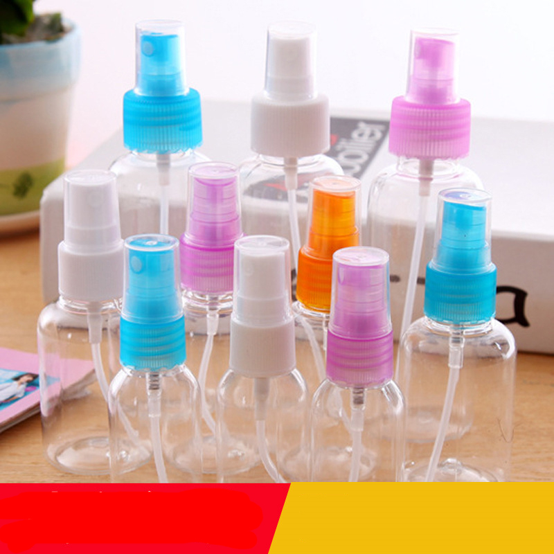 Makeup small watering can 30 50 100ml spray bottle hydrating fine mist spray bottle cartoon small spray bottle transparent BQ019 in Storage Bottles Jars from Home Garden