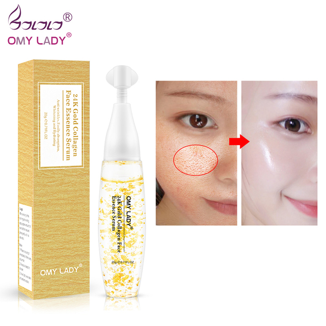 OMYLADY 24K Gold Collagen Face Essence Moisturizing 24K Gold Serum & Moisturizers 24K Gold Essence Serum New Face Skin Care