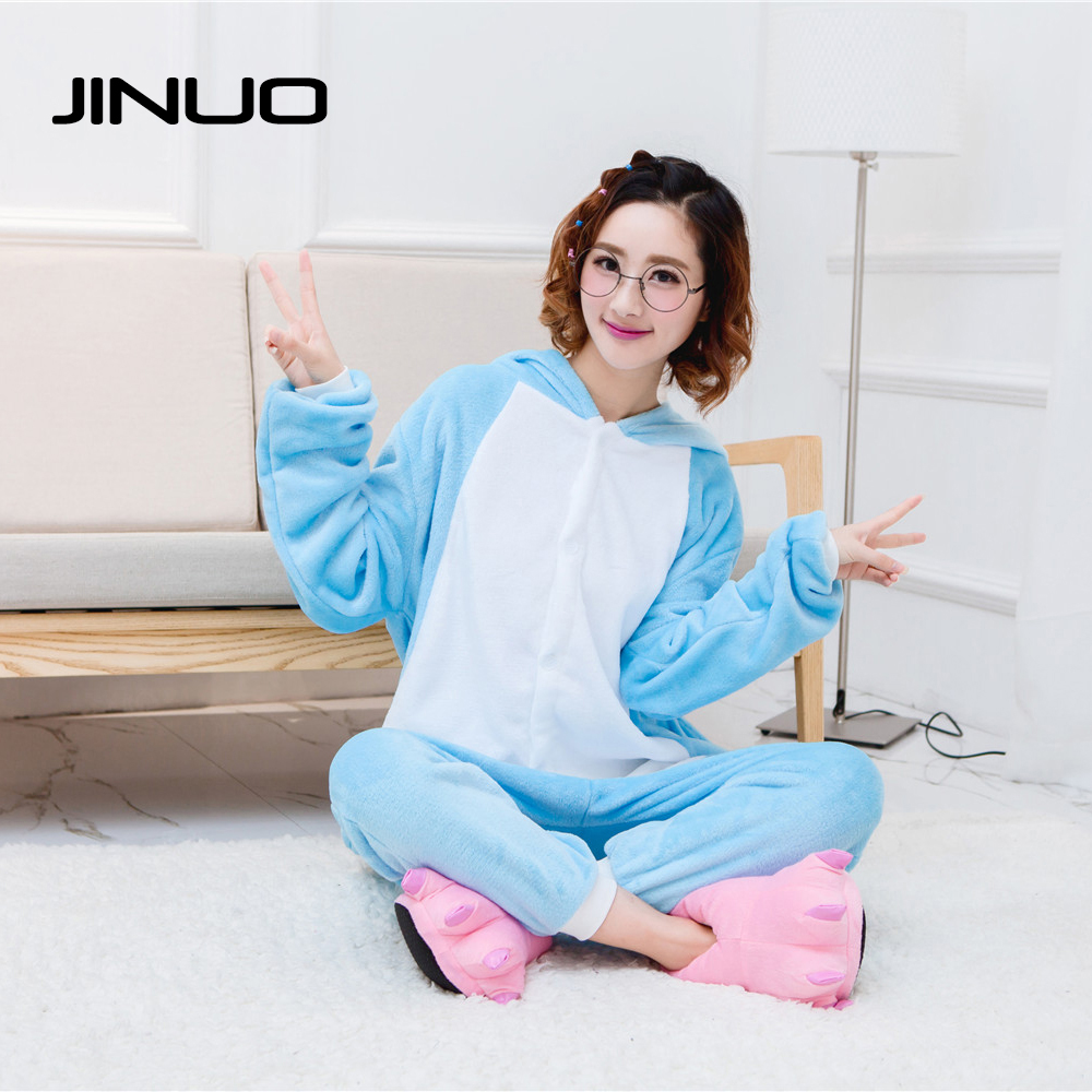 Adult Blue Elephant Onesie Pijama Pajamas Sleepwear Sleep Lounge Pijamas Enteros de Animales S M L XL
