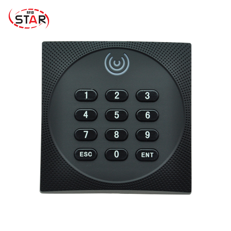Free Shipping Wiegand 34 Proximity Smart IC Card Reader rf gate access control card rfid reader 13.56MHz with keypad original access control card reader without keypad smart card reader 125khz rfid card reader door access reader manufacture