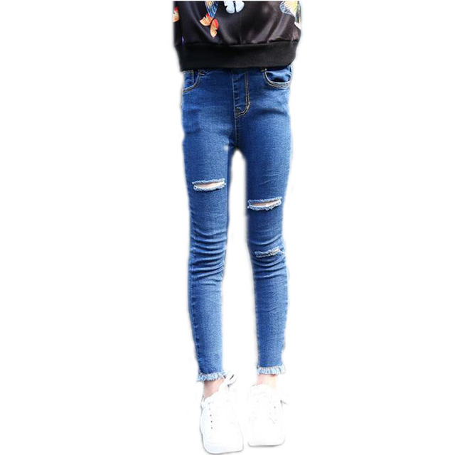 Aliexpress.com : Buy Baby Girls Clothes Children's Ripped Jeans ...