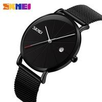SKMEI Men Quartz Wristwatches Women Watches 30M Waterproof Big Dial Calendar Quartz Watch relogio masculino 9183
