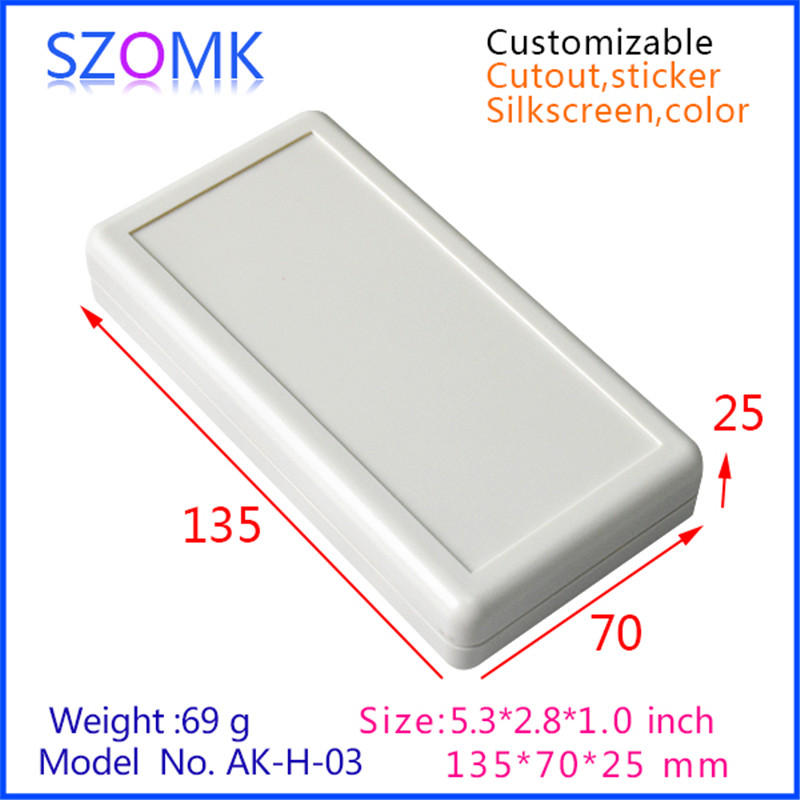 2AA battery (1 piece) plastic enclosure for electronics handheld switch box abs plastic housing 135x70x25mm 1pcs lot battery holder box case 3x aa 4 5v with switch