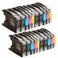 4 set +4Bk Ink Cartridges For Brother LC1240/1220 LC 1220 1240 LC1220 LC1240 LC-1240 LC-1220 MFC-  J960DWN-W MFC-J432W MFC-J430W