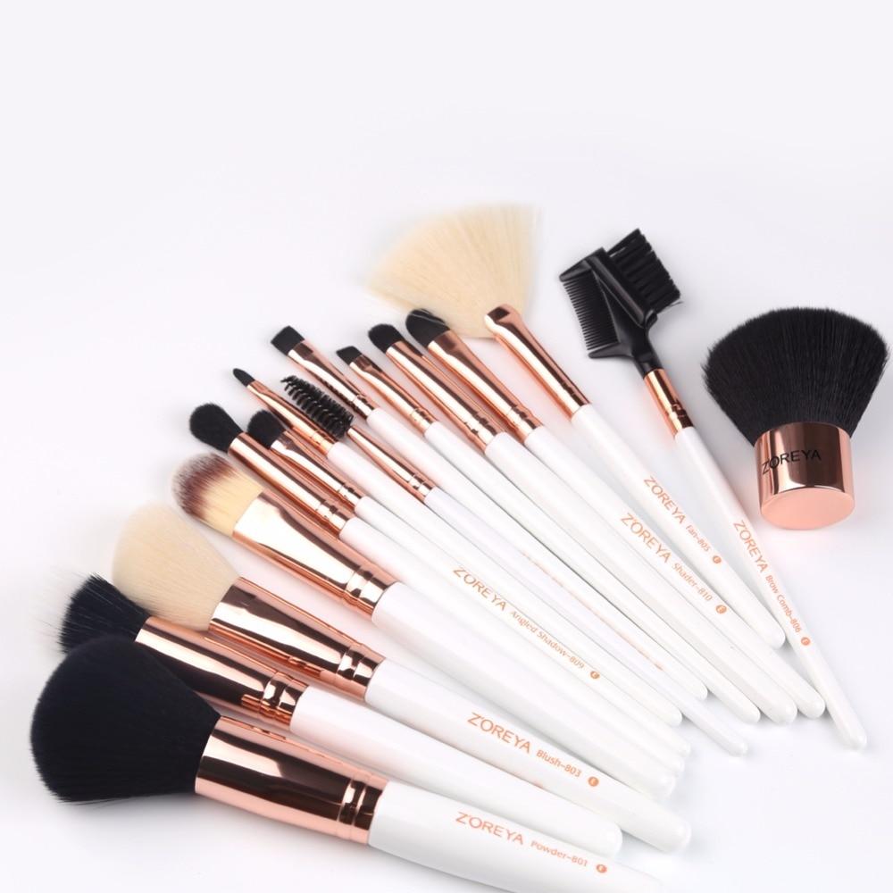 Tesoura de Maquiagem escova cosmética diária para fazer Quantidade : 15pcs /conjunto