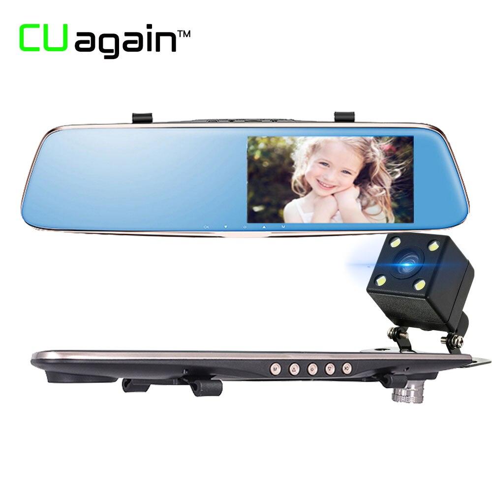 CUagain CU28 DVR 5 Night vision ADAS HD 1296P Car Camera Dual Rearview Mirror Dash Cam G-Sensor Parking Monitor Recorder