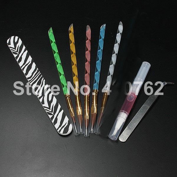 Formato para Unha acrílico pó líquido glitter escova Quantidade : 100