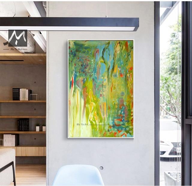 Abstraite moderne mur de toile art à la main contemporain célèbre ...