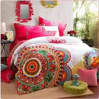 Luxury boho bedding sets queen king size bedclothes bohemia duvet cover set, bedsheet pillowcase 4pc bed set 100% Cotton