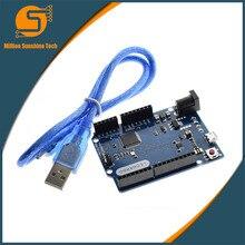 Леонардо R3 развития борту микроконтроллер Atmega32u4 с USB кабель, совместимый для Arduino, набор стартера DIY