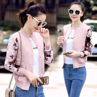 In The Spring Of New Large Size Short Sleeved Jacket Female Thin Slim Slim Size Stamp