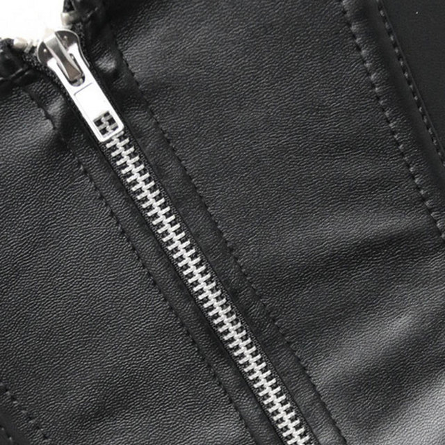 Women Corset Imitation Leather Waist Trainer Lace Splice Body Shaper Corselet Modeling Strap Slimming Belt Plus Size  JL
