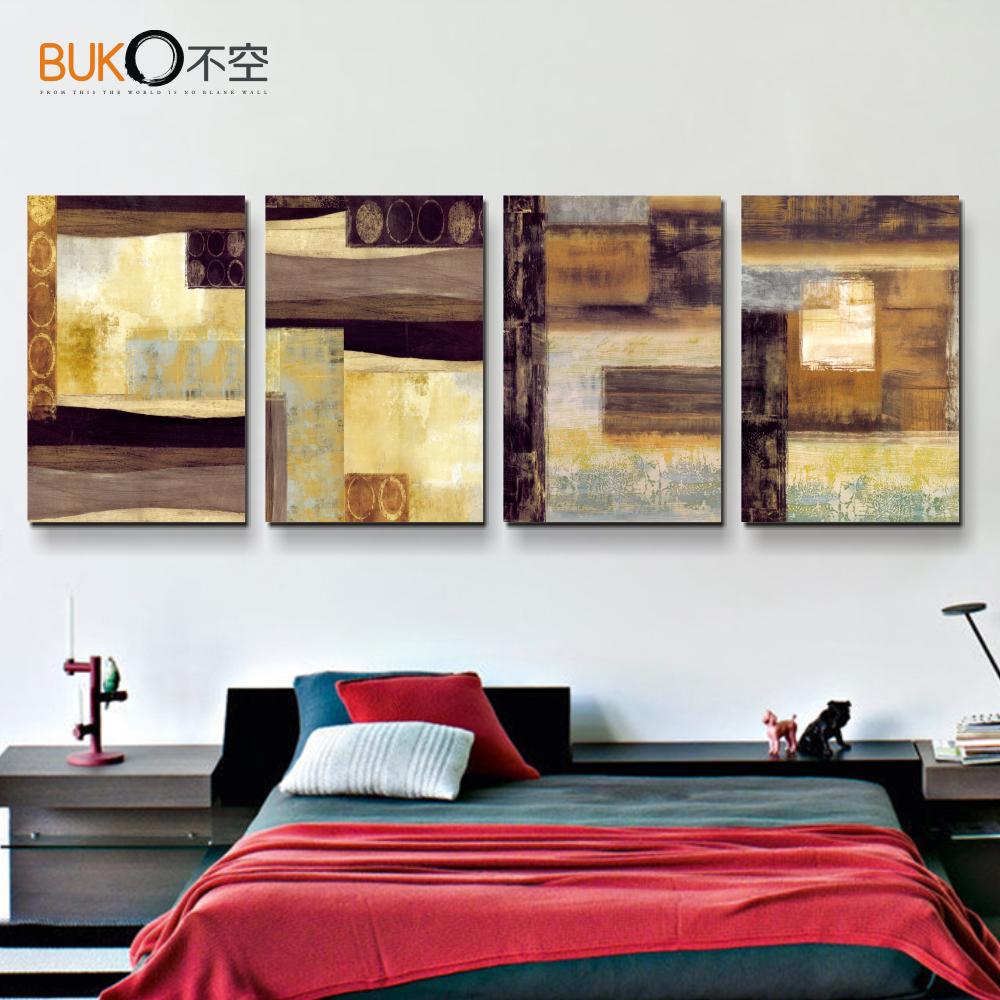 unidades de la lona pintura del arte pop de impresin amarillo lneas de espacio pinturas