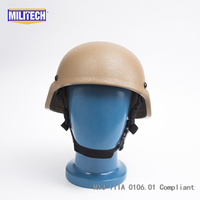 Tested NIJ LVL IIIA Ballistic Imported KEVLAR ARAMID Bulletproof Helmet Coyote Brown Mich 2000 Style ACH