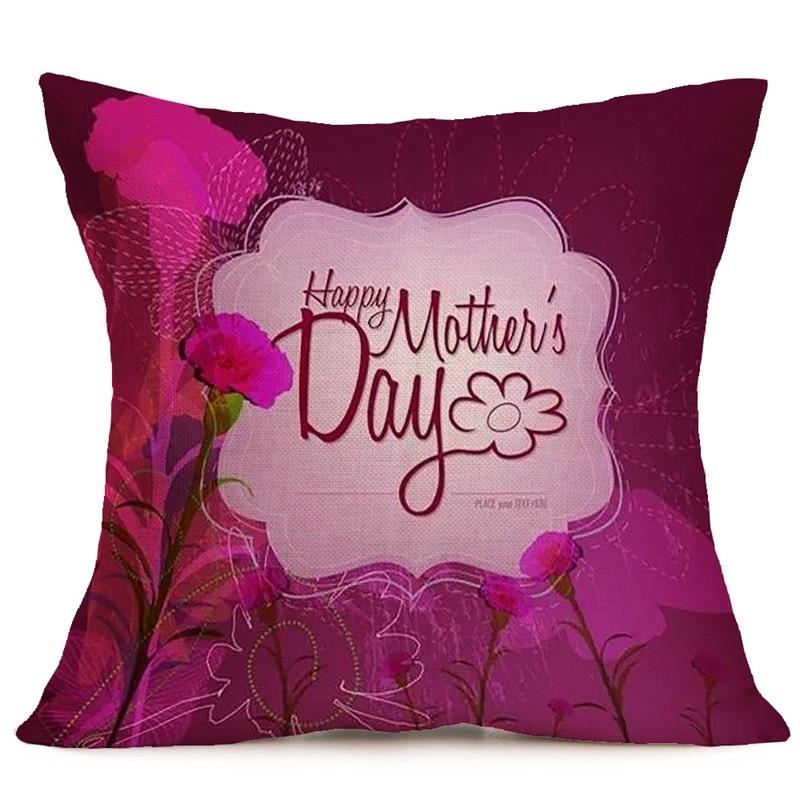 45cm*45cm Happy mother day design linen cotton pillow