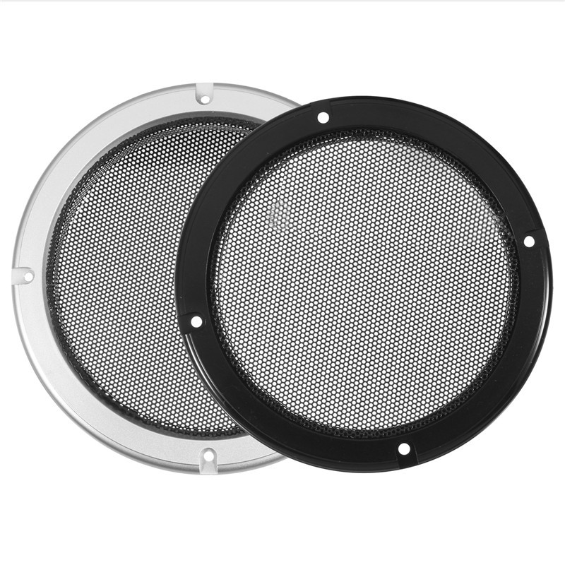 1//2//3//4//5//6.5//8//10 inch Speaker Cover Decorative Circle Metal Mesh Grille White