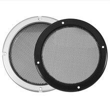 Capa protetora para alto falante redonda, multiopções, malha, rede, alto falante, capa protetora, 4/ 5/ 6.5/ 8, 1 par capa para alto falante de 10 polegadas