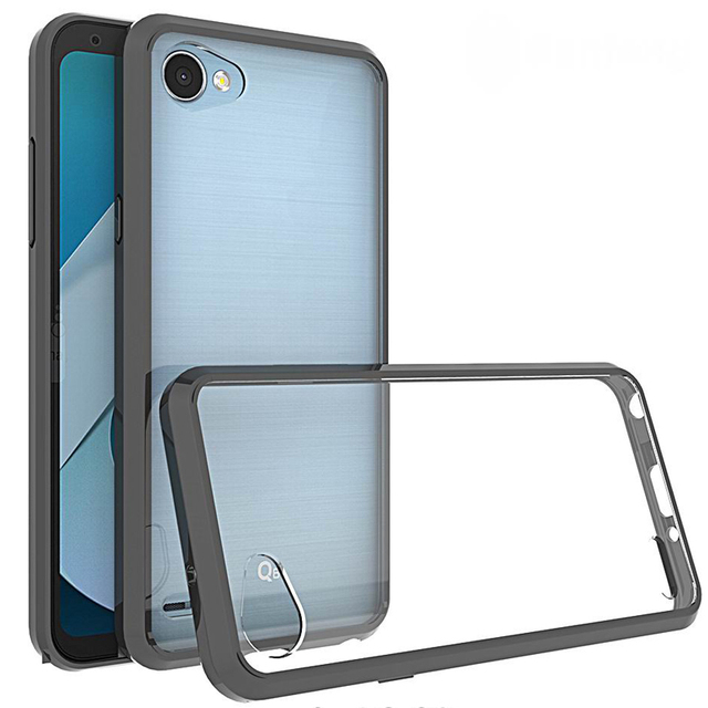buy popular 20784 a2c66 US $2.99  Hybrid Tough Clear Case For LG Q6 Case Hard PC Back Cover For LG  Q6 Plus Phone Case Shockproof TPU Silicone Edge Full Protection-in Fitted  ...