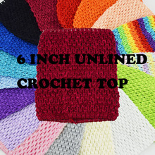60a8fbc5bbc 6inch Crochet TUTU Waffle Top for Girls TUTU Dress Princess Party Costume  DIY Accessories Unlined Crochet