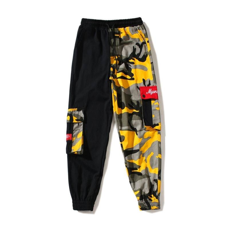 Man Jogger Camouflage Pants Loose Mens Sweatpants Summer High Street Cargo Pants Streetwear Casual Pants Harajuku Hip Hop Pants(China)