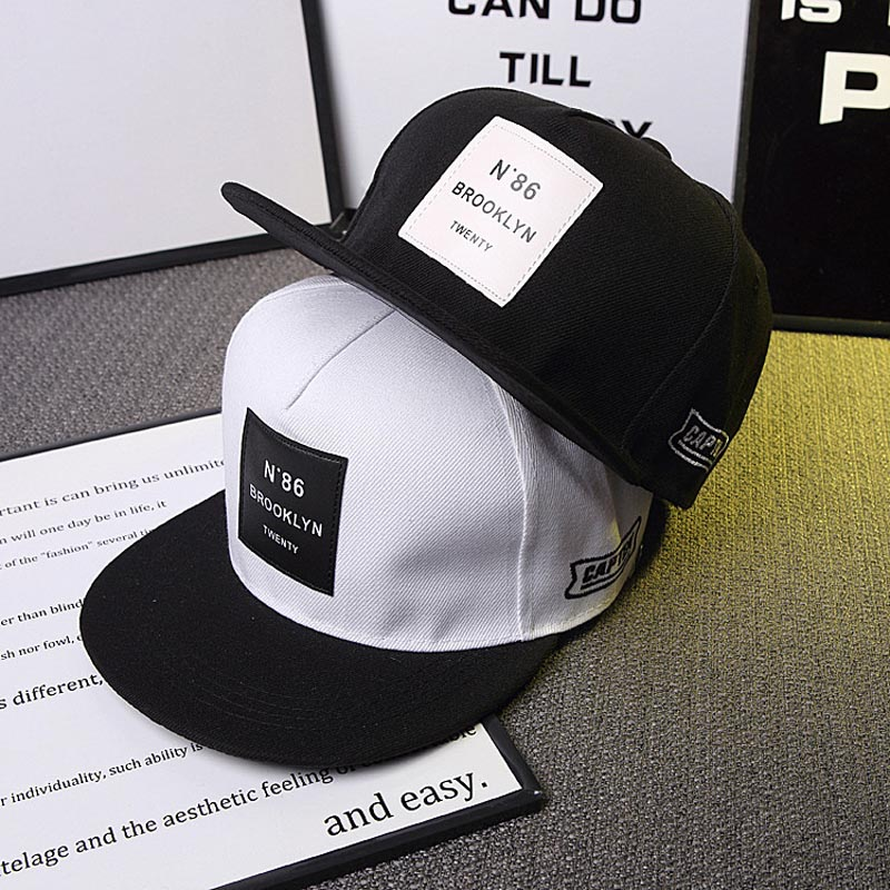 2019 New Men Womens BROOKLYN Letters Solid Color Patch Baseball Cap Hip Hop Caps Leather Sun Hat Snapback Hats