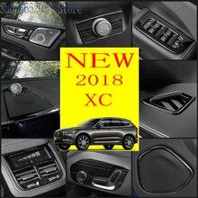 Для Volvo XC60 черный Титан Нержавеющая сталь интерьер автомобиля декоративный отделка литья крышка автомобиля Стайлинг Аксессуары