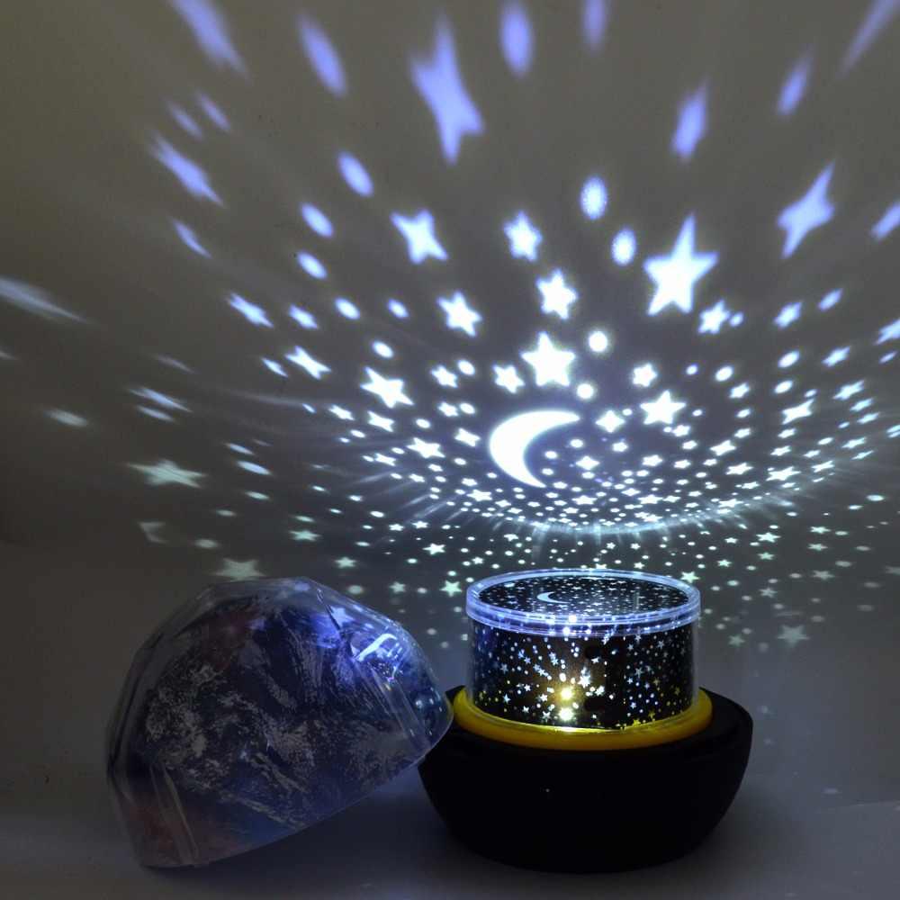 Ночник с вращающейся планетой Волшебный проектор земля Вселенная светодиодный светильник красочный поворотный ночник для ребенка Рождественский подарок